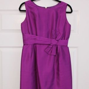 Kate Spade Purple Bow Waist Dress (Size 8)